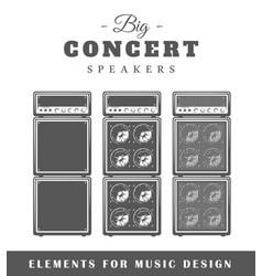 professional live music speaker vector image vector image