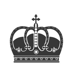 royal king crown vector image vector image