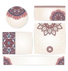 Set of ornamental invitation cards vector image vector image