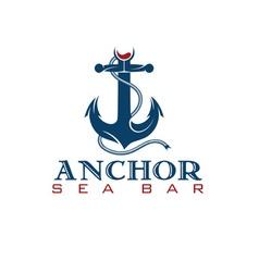 anchor sea bar concept vector image