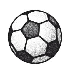 black grunge soccer ball on white vector image