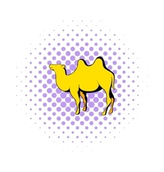 Camel icon in comics style vector image vector image
