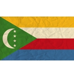 Comoros paper flag vector image vector image