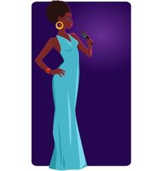 Female jazz singer vector image
