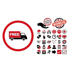 Free Shipment Flat Icon with Bonus vector image vector image