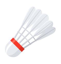 shuttlecock for badminton vector image vector image
