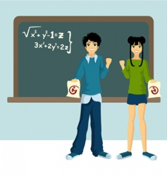 two students vector image