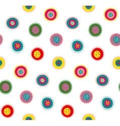 Circles Doodles Abstract Pattern Background vector image vector image