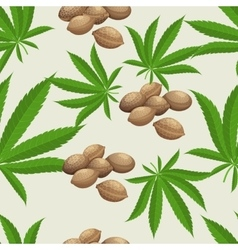 Seamless pattern with marijuana hemp leaves and vector image vector image