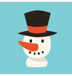 Snowman icon flat avatar vector image