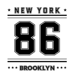 T shirt typography graphic New York city vector image