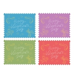 Valentine day love beautiful vector image
