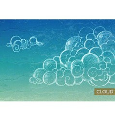 Vintage Sky background with Clouds vector image