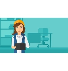 Woman using tablet computer vector image vector image