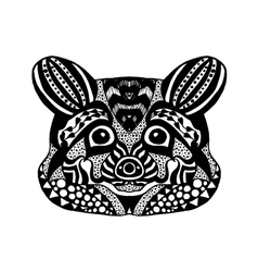 Zentangle stylized raccoon Sketch for tattoo or t vector image vector image