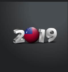 2019 grey typography with samoa flag happy new vector
