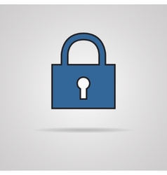 A padlock isolated against a grey background vector image