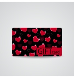 Abstract Beautiful Heart Gift Card Design vector