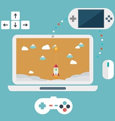Abstract flat of game development concepts Design vector