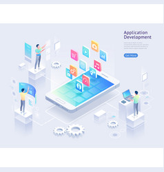 application development isometric vector image