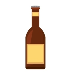 beer bottle drink pour vector image