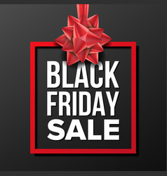 black friday sale banner business vector image