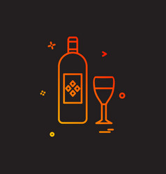 bottle glass drink icon design vector image
