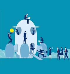 Business school startup concept business vector