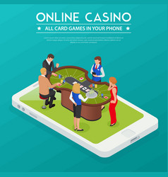 casino online isometric composition vector image