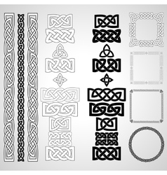 Celtic knots patterns frameworks vector image