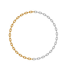 Chain in shape circle vector