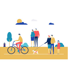 City life - flat design style colorful vector