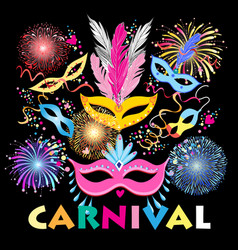 Colorful carnival background vector