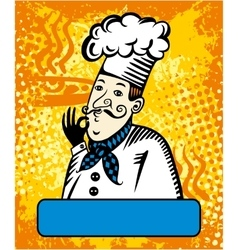 Cook with a gesture of approval vector image