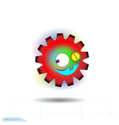 crazy gear icon on white background vector image