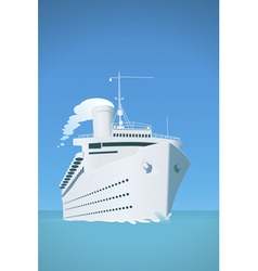 Cruise ship vector