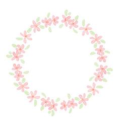 cute pink watercolor plmeria frangipani flower vector image