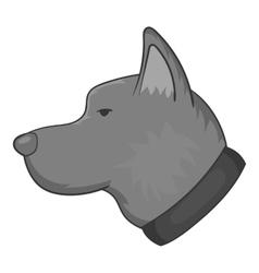 Dog icon black monochrome style vector