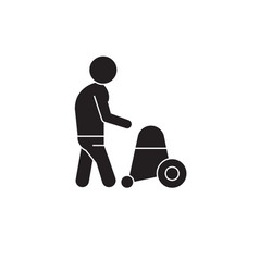 elderly people health care black concept vector image