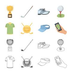emblem of the golf club cap with a visor golfer vector image
