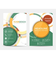 Flyer design with circular pattern Corporate vector