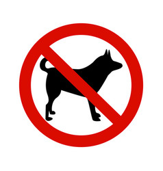 forbidding signs no dog or pets vector image