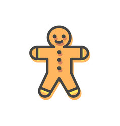 gingerbread man christmas vector image