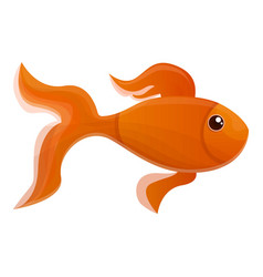 goldfish icon cartoon style vector image