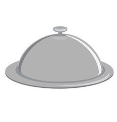 Grey tray vector image