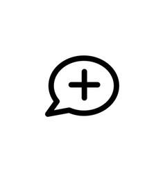 health talk icon vector image