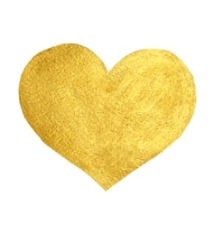 Heart Love Gold Watercolor Texture Paint Stain vector