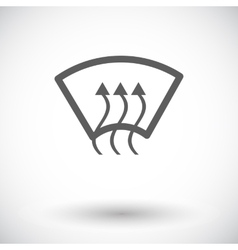 Heating glass single icon vector image