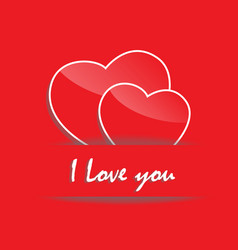 i love you concept vector image