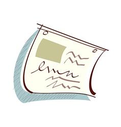 Icon paper vector